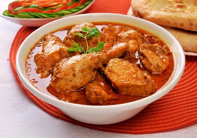 Жаренная курица с карри