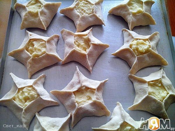 Дучмаки с творогом Рецепт приготовления дучмаков: Мука - Рецепт