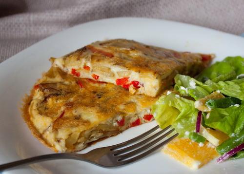 Фритата с картофелем - Пошаговый рецепт - ФОТО