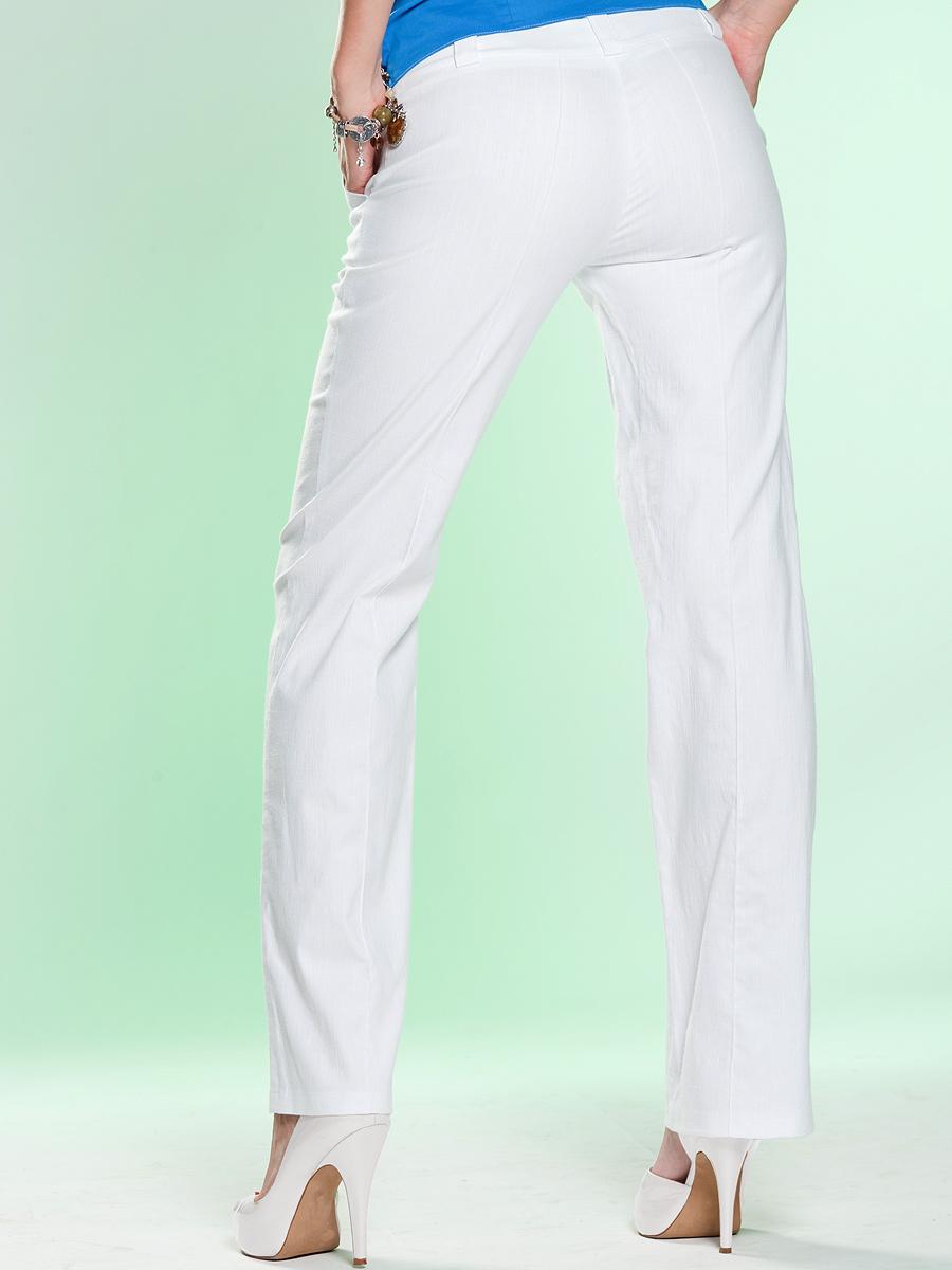 Стринги через белые брюки