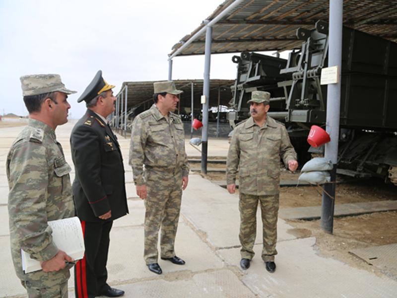 Закир Гасанов проверил уровень боеготовности инженерно-фортификационной воинской части