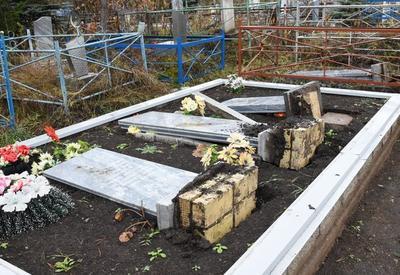 Вандалы разгромили мусульманское кладбище