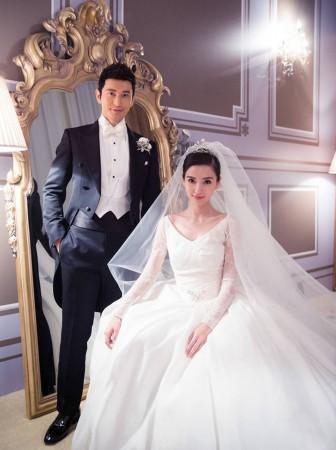 Самая красивая актриса Китая сыграла роскошную свадьбу