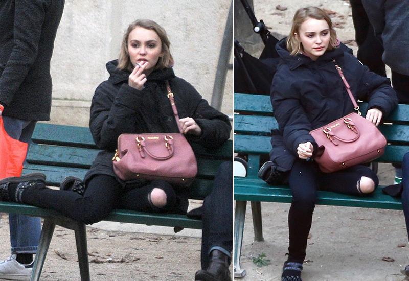 Дочь Джонни Деппа поймали курящей