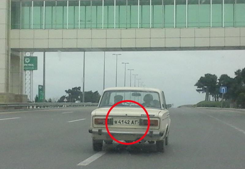 В Баку замечен автомобиль с необычным номером
