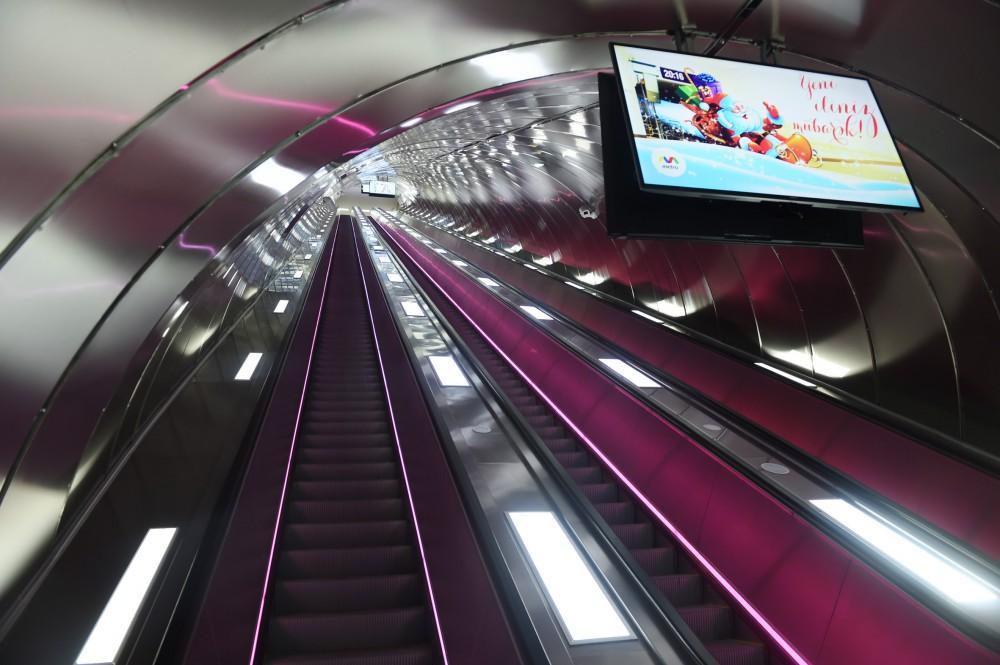 Президент Ильхам Алиев принял участие в открытии второго выхода станции метро «Эльмляр Академиясы»