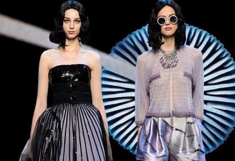 Лиловые краски в коллекции Armani Privé SS 2016 на Haute Couture Week