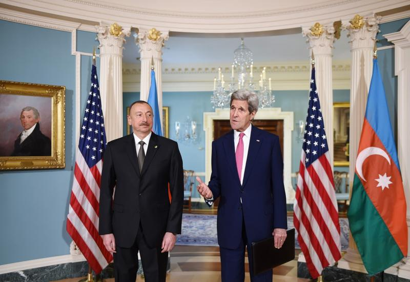 """Джон Керри: """"Мы очень признательны Азербайджану за вклад в миротворческие операции"""""""
