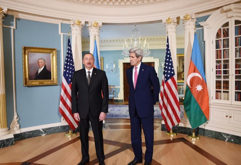 """Президент Ильхам Алиев: """"Отношения между Азербайджаном и США достигли уровня стратегического значения"""""""