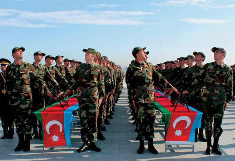 В Азербайджанской Армии завершился процесс распределения призывников по воинским частям