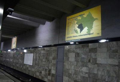 """Bakı metrosunda vətənpərvərlik nümayişi <span class=""""color_red"""">- FOTOLAR</span>"""