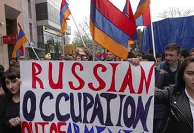 Армяне встречают Путина антироссийской истерикой - ФОТО
