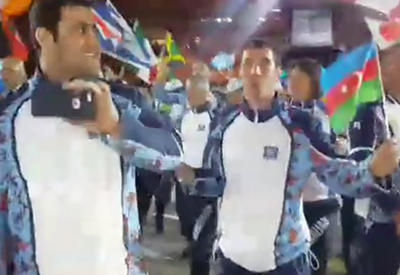 """Закрытие Олимпиады глазами азербайджанской делегации <span class=""""color_red"""">- ВИДЕО</span>"""
