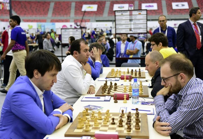 Сборные Азербайджана одержали очередные победы на Всемирной шахматной олимпиаде