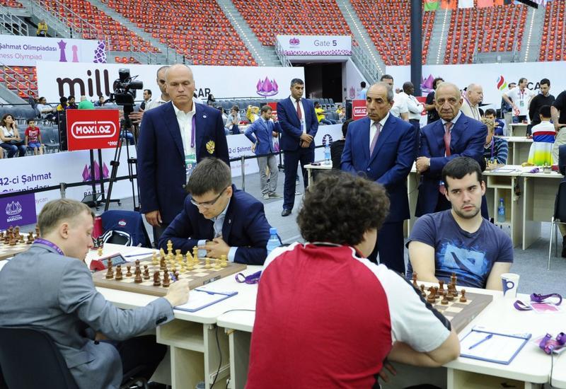 Прошел четвертый тур 42-й Всемирной шахматной олимпиады в Баку