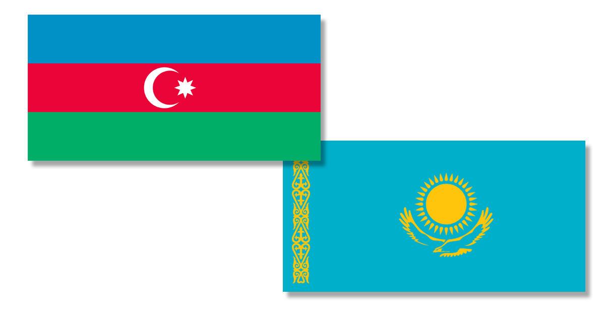Картинки по запросу азербайджан+казахстан+флаги