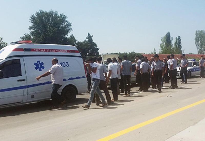 Тяжелое ДТП в Товузе, есть погибший и пострадавшие