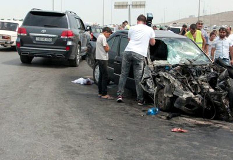 Цепная авария в Агстафе, много пострадавших