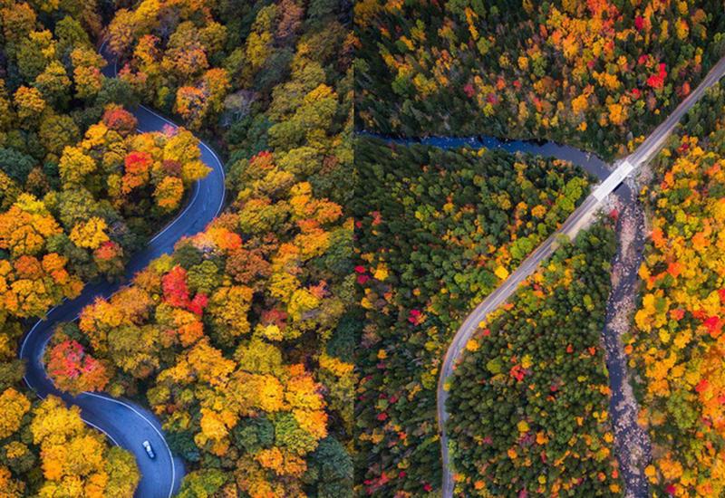 Восхитительные краски осени в разных штатах Америки