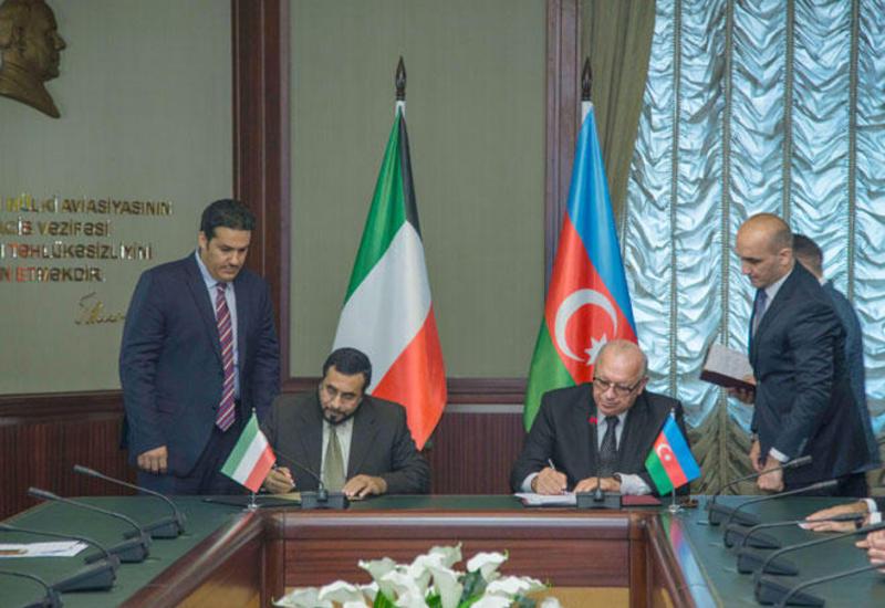 Азербайджан и Кувейт подписали межправсоглашение о воздушном сообщении