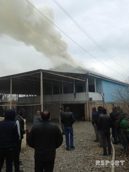 Сильный пожар в Сабирабаде
