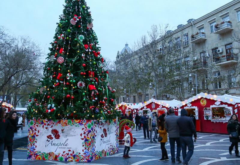 Баку готовится к Новому году