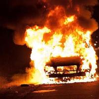 Жуткая авария в Азербайджане, два человека сгорели заживо
