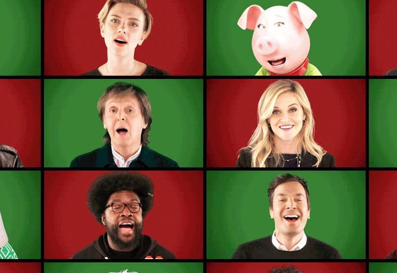 Голливудские звезды записали оригинальное поздравление с Рождеством