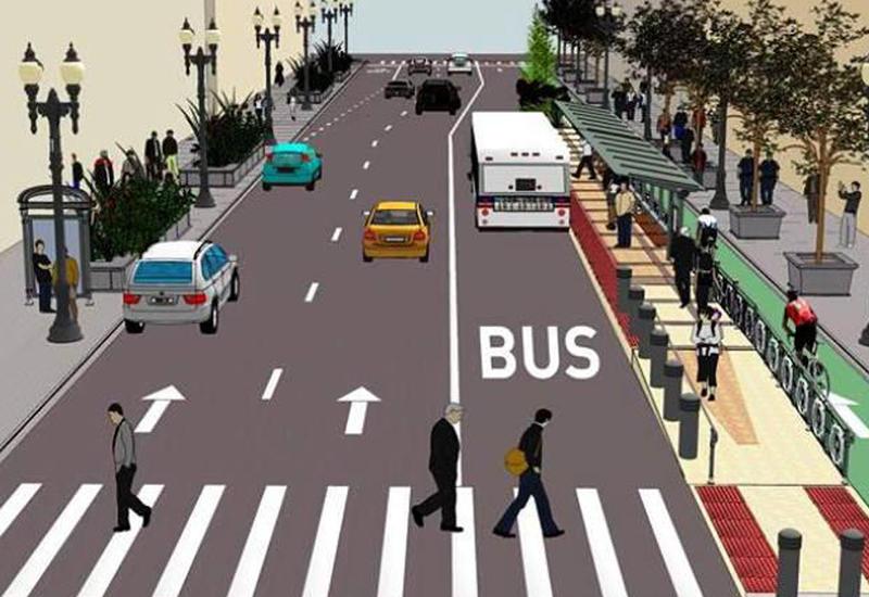 В Баку для автобусов выделят специальные полосы движения