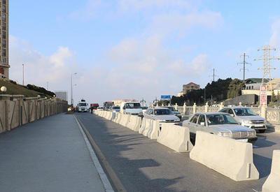 "Изменено движение транспорта на въезде в Баку <span class=""color_red"">- ФОТО</span>"