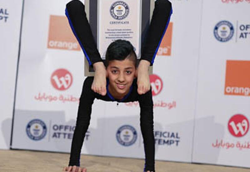 13-летний акробат из Палестины побил зрелищный мировой рекорд