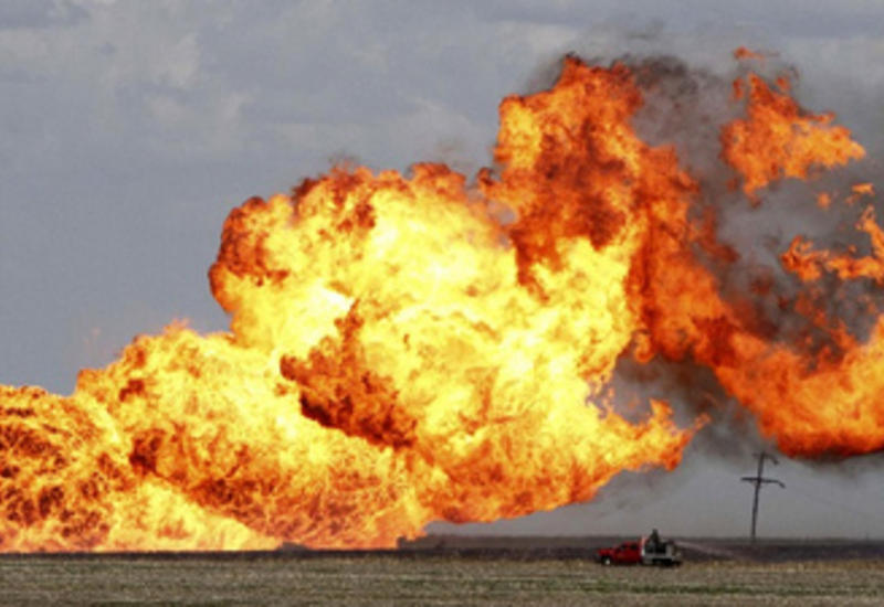 В Гаджигабульском районе произошел взрыв на газопроводе