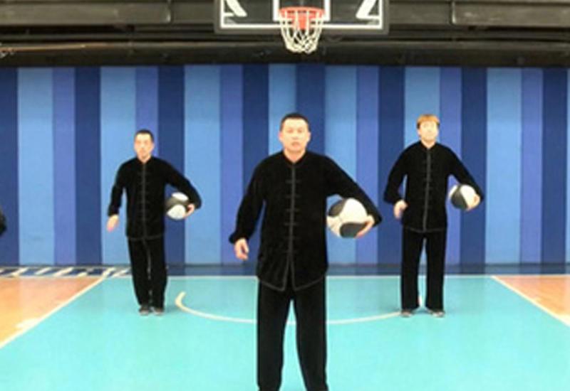 Китайские спортсмены соединили кунг-фу с баскетболом