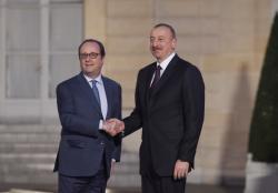 Состоялась встреча Президента Ильхама Алиева и президента Франции Франсуа Олланда