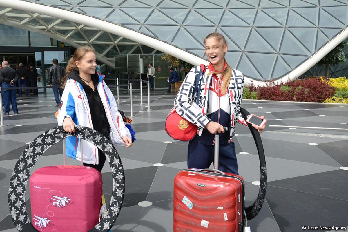 Российские гимнастки приехали в Баку