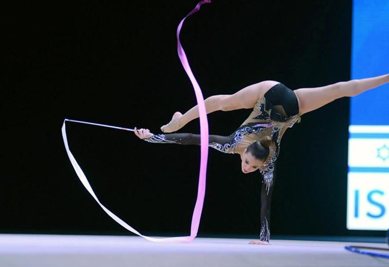 Лучшие моменты финального дня соревнований Кубка мира по художественной гимнастике в Баку