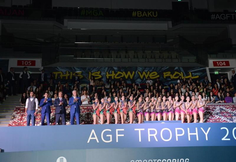 В Баку прошла церемония награждения победителей финалов Кубка мира по художественной гимнастике в индивидуальных и групповых упражнениях