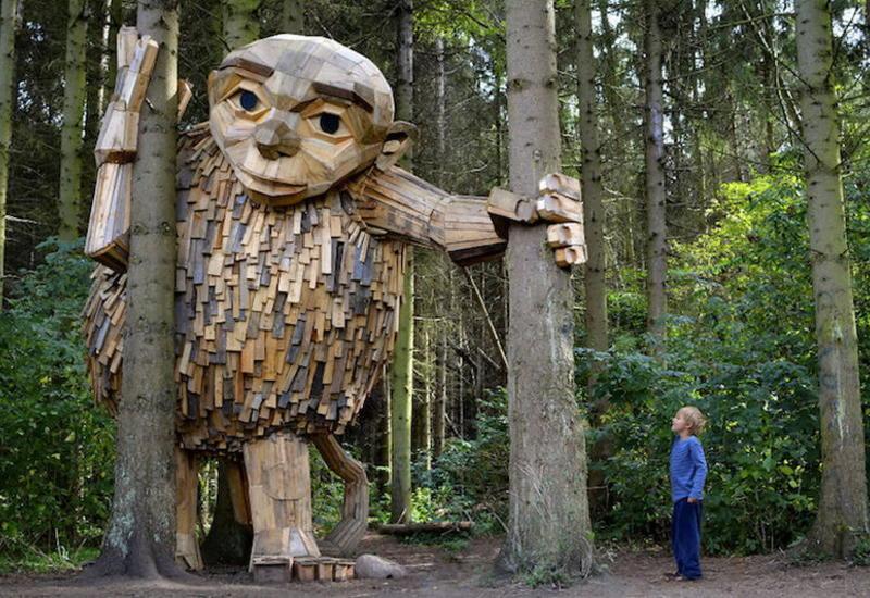 Деревянные великаны в парках Копенгагена