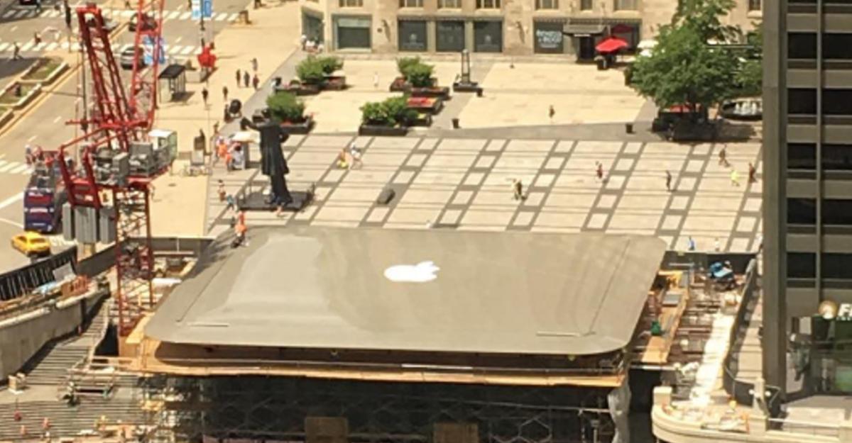 Магазин apple в форме macbook