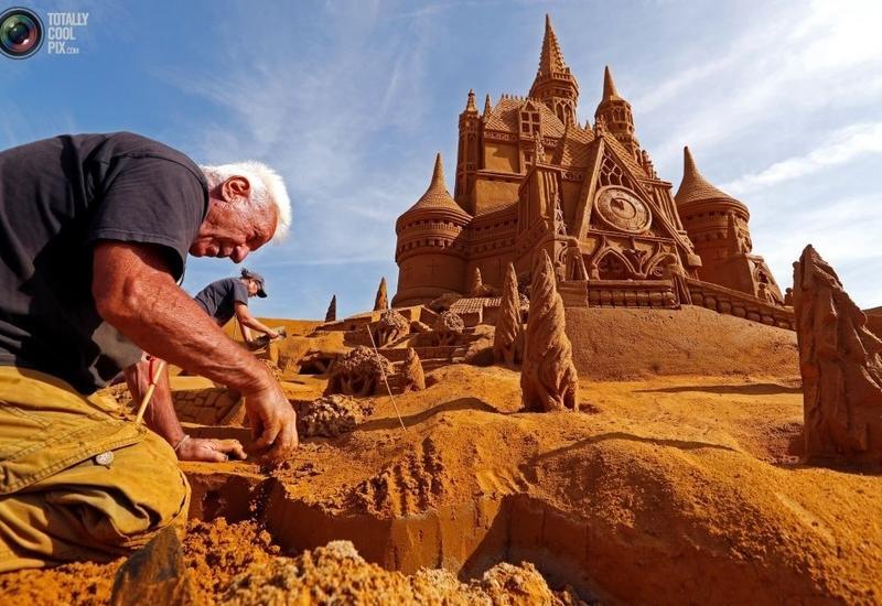 """Фестиваль песчаных скульптур """"Disney Sand Magic"""" в Бельгии"""