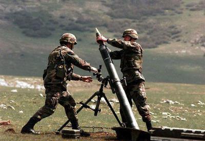 Армяне обстреляли позиции ВС Азербайджана из минометов