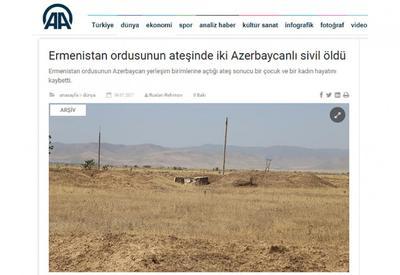 """Турецкие СМИ: Агрессорская Армения – убийца детей <span class=""""color_red"""">- ФОТО</span>"""