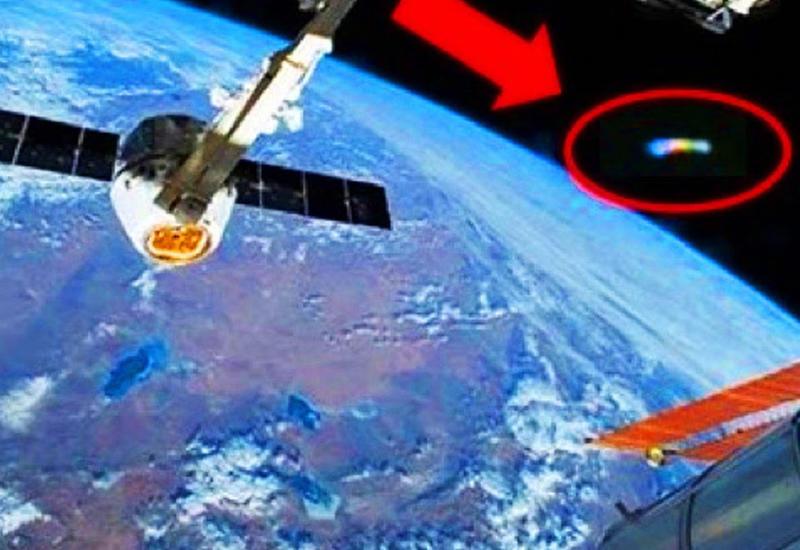 НЛО попало на видео с МКС