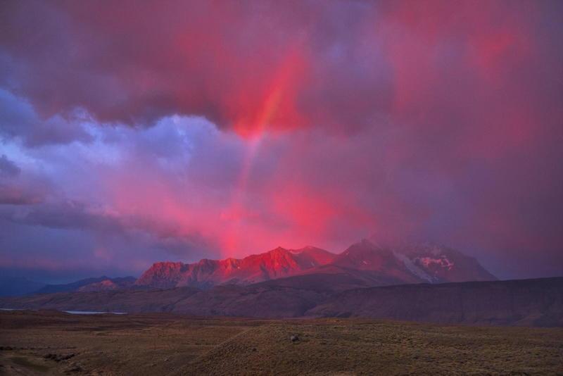 Рассвет над Андами в Патагонии