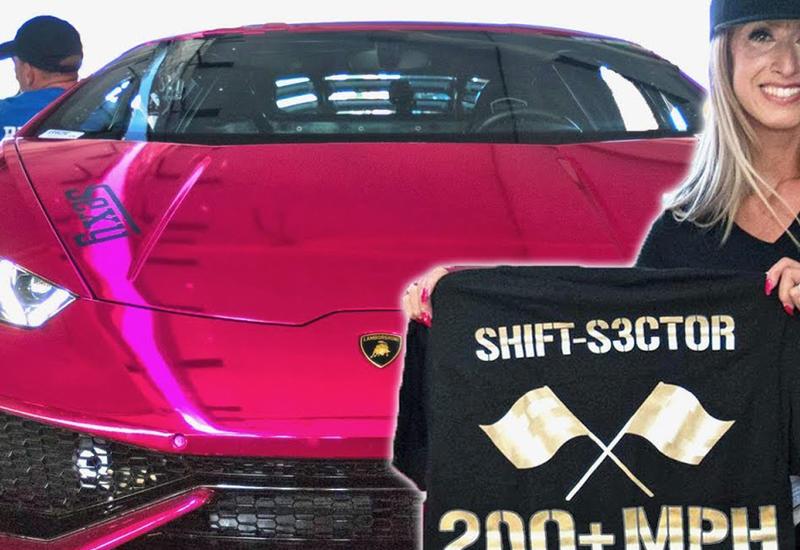 Блондинка на розовом Lamborghini побила рекорд скорости