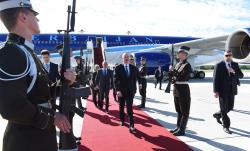 Президент Азербайджана Ильхам Алиев в воскресенье прибыл с официальным визитом в Латвию