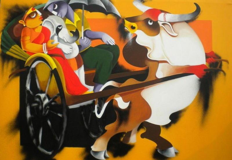 """""""Картинная галерея"""" Day.Az: Цветной мир художника Юттама Манны <span class=""""color_red"""">- ФОТО</span>"""