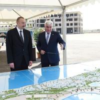 """Президент Ильхам Алиев ознакомился с проектами мероприятий в центральной части Пираллахи <span class=""""color_red"""">- ФОТО</span>"""