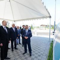 """Президент Ильхам Алиев ознакомился с условиями в комплексе «Нерекенд» и принял участие в открытии проекта по снабжению питьевой водой в Пираллахинском районе <span class=""""color_red"""">- ОБНОВЛЕНО - ФОТО</span>"""