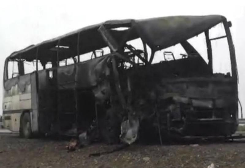 Göyçayda iki avtobus yandı